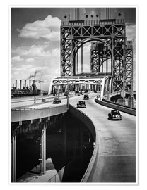 Premium-Poster Historisches New York - Triborough Bridge, Manhattan