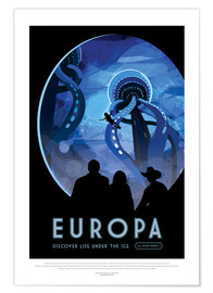 Premium-Poster Retro Space Travel – Europa