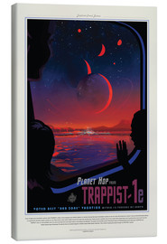 Leinwandbild  Retro Space Travel ? Trappist-1e