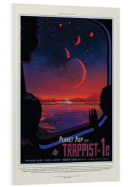 Hartschaumbild  Retro Space Travel - Trappist1e