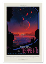 Premium-Poster  Retro Space Travel ? Trappist-1e