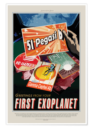 Premium-Poster Retro Space Travel - Pegasi51