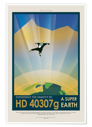 Premium-Poster Retro Space Travel - HD40307G Gravity