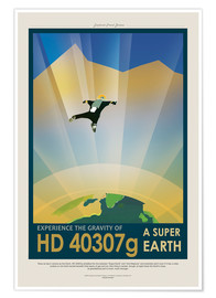 Poster Retro Space Travel - HD40307G Gravity