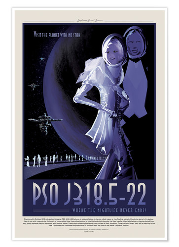 Premium-Poster Retro Space Travel - PSOJ318 Endless Night