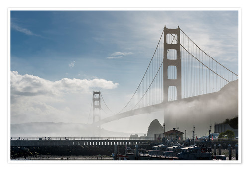 Premium-Poster San Francisco - Golden Gate Bridge im Nebel