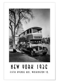 Premium-Poster  Historisches New York - 10 Fifth Avenue Bus, Washington Square - Christian Müringer