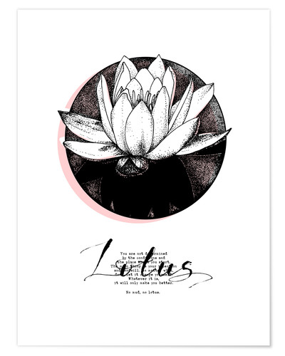 Premium-Poster Lotus Motivation