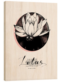 Holzbild  Lotus Motivation - Sonia Nezvetaeva