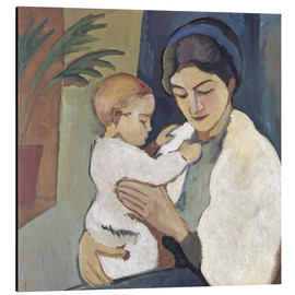 Alubild  Mutter und Kind - August Macke