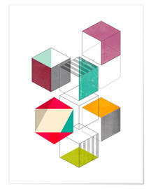 Premium-Poster colorful cubes