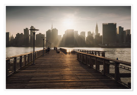 Premium-Poster New York City sunset aussicht