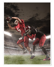 Premium-Poster American Football-Spieler in Aktion