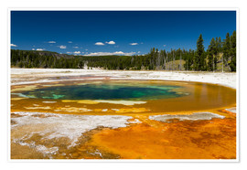 Premium-Poster Beauty Pool, Yellowstone Nationalpark