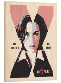 Holzbild  Dana Scully, X Files - 2ToastDesign