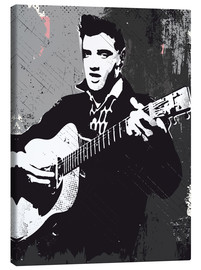 Leinwandbild  Elvis Presley black and white art - 2ToastDesign