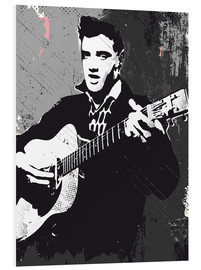 Hartschaumbild  Elvis Presley black and white art - 2ToastDesign