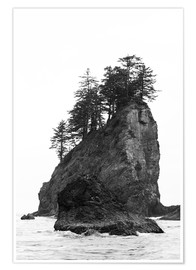 Premium-Poster Felsen am Second Beach im Olympic National Park, USA