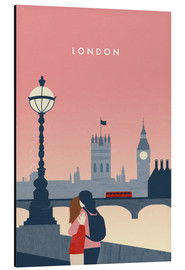 Alubild  London Illustration - Katinka Reinke