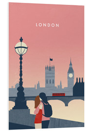 Hartschaumbild  London Illustration - Katinka Reinke