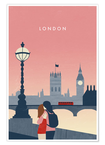 Premium-Poster London Illustration