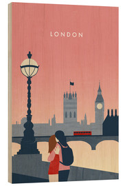 Holzbild  London Illustration - Katinka Reinke