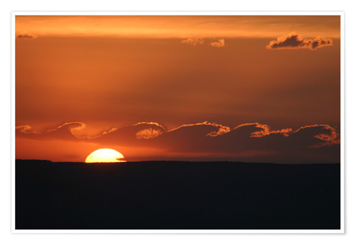 Premium-Poster Sonnenuntergang am Grand Canyon Wolken Wellen
