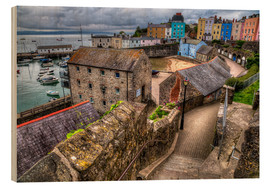Holzbild  Down To Tenby Harbour - Simon West