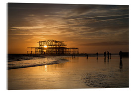 Acrylglas  Brighton West Pier Sunset - Simon West