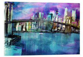 Acrylglasbild  New York Brooklyn Bridge - Johann Pickl