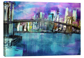 Leinwandbild  New York Brooklyn Bridge - Johann Pickl