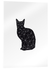 Acrylglasbild  black cat - Nouveau Prints