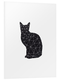 Hartschaumbild  black cat - Nouveau Prints