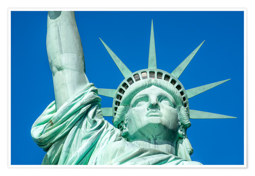 Premium-Poster Statue of Liberty in New York City, USA