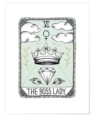Premium-Poster The Boss Lady