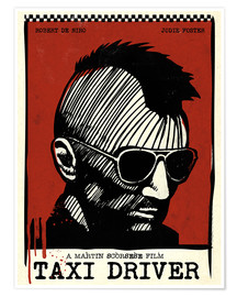 Premium-Poster Alternative taxi driver art film