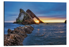 Alubild  GB Sunrise at Bow fiddle Rock  MG 0873 HDR Bearbeitet Luminar2018 edit Bearbeitet  - Reemt Peters-Hein
