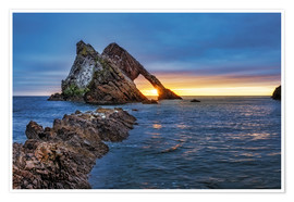 Premium-Poster Sonnenaufgang am Bow Fiddle Rock