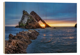 Holzbild  GB Sunrise at Bow fiddle Rock  MG 0873 HDR Bearbeitet Luminar2018 edit Bearbeitet  - Reemt Peters-Hein