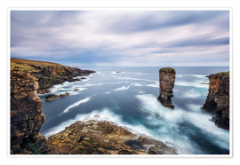 Premium-Poster Yesnaby Klippen auf Orkney Inseln