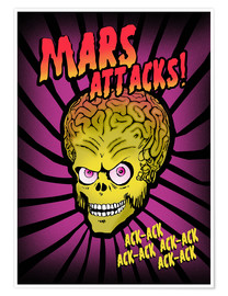 Premium-Poster Mars Attacks! movie art inspired
