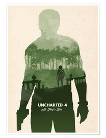 Premium-Poster Uncharted 4 – alternative art