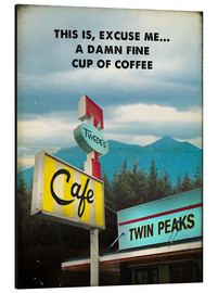 Alubild  Twin Peaks vintage twede's cafe art - 2ToastDesign