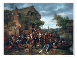 Premium-Poster  Das Dorf Revel - Jan Havicksz. Steen