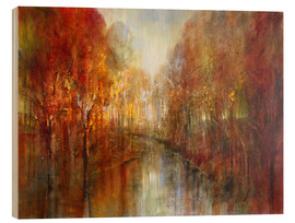 Holzbild  and the forests will echo with laughter - Annette Schmucker