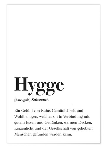 Poster Definition Hygge Deutsch