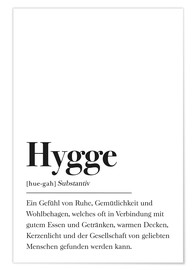 Poster  Definition Hygge Deutsch - Johanna von Pulse of Art
