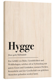 Holzbild  Hygge Definition - Johanna von Pulse of Art