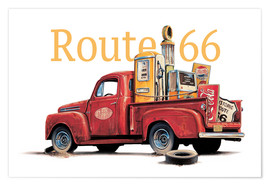 Poster Route 66 Relics