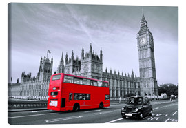 Leinwandbild  Red Bus auf Westminster Bridge - Art Couture